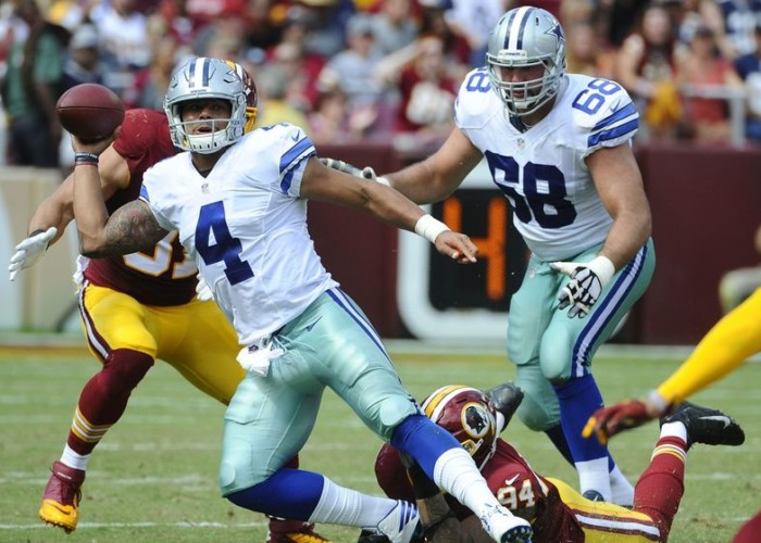 Prescott Carries Cowboys Over Skins
